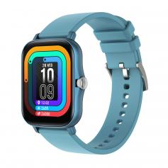 Y20 smart watch with heart rate and sleep monitoring, 1.7-inch full touch screen, smart female and male fitness watch, compatible with Android iPhone iOS blue