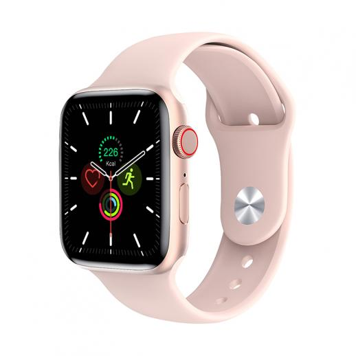 W26+ PRO smart watch, support Bluetooth call, with heart rate, blood pressure, blood oxygen, temperature monitoring, 1.75 inches full touch screen, smart female and male fitness watch, compatible with Android iPhone iOS pink
