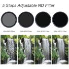 62mm ND2-ND32 Variable Neutral Density ND Filter Nano Coated