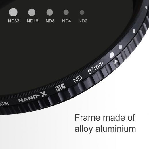 67mm ND2-ND32可変NDフィルター18層マルチコートガラス