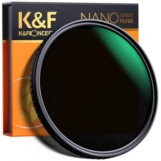 K&F XV37  58mm Fader ND Filter Neutral Density Variable Filter ND2 to ND32