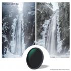 82mm ND2-ND32 Variable Neutral Density ND Filter Nano Coated