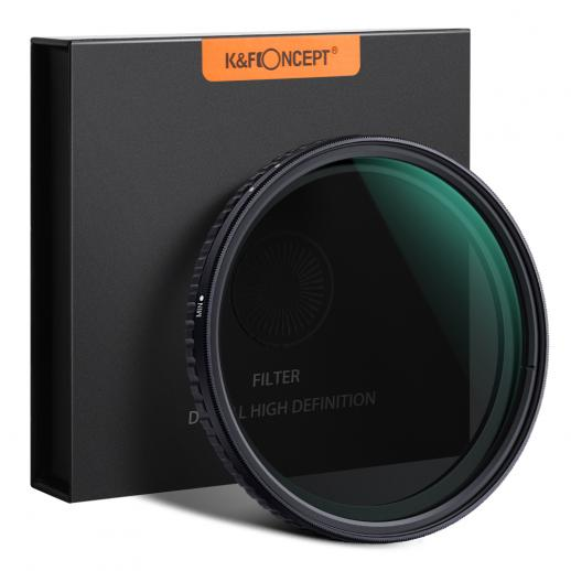 62mm ND8-ND128 Variable Neutral Density ND Filter Nano Coated