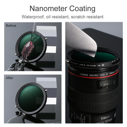 77mm Variable ND2-ND32 Neutral Density and Circular Polarizing Filter Coated