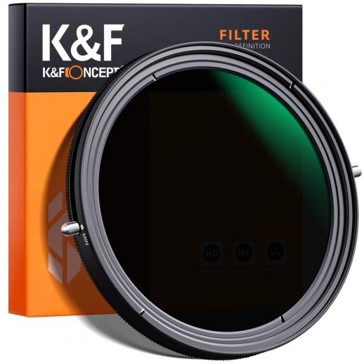 "K&F XB41 55mm Variable ND&CPL Filter 2 in 1 Function Nano Coating No ""X"" cross"