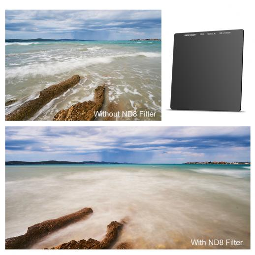 100*100mm ND8 3 Stop Neutral Density Square Filter