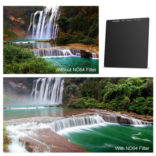100*100mm ND64 6 Stop Neutral Density Square Filter