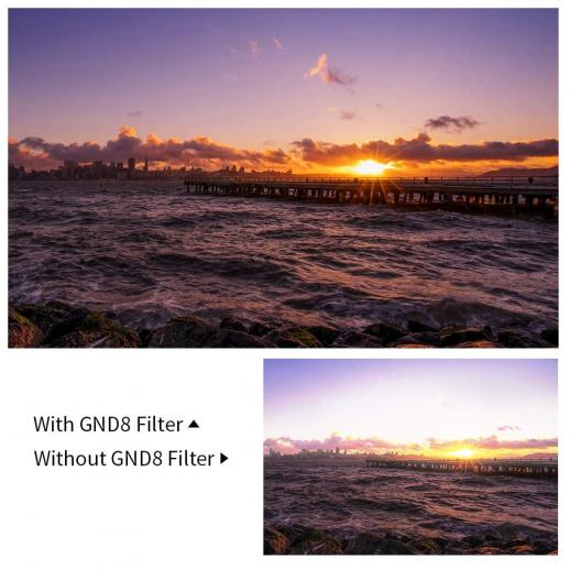 Reverse Graduated Neutral Density GND8 3 f-stop Filter 100*150mm