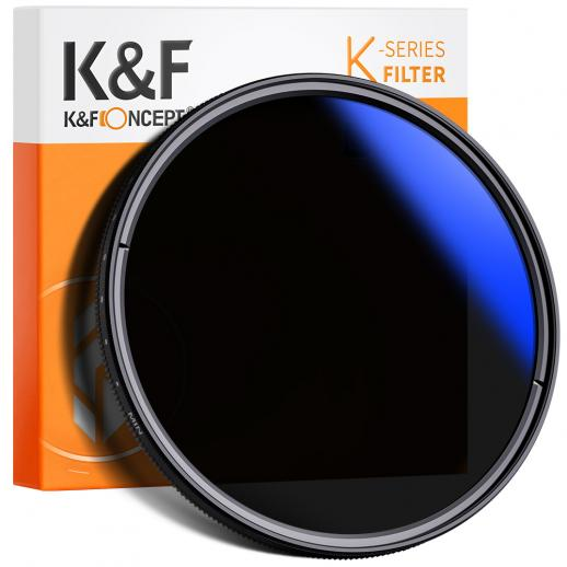 K&F KV33 52mm ND Fader Variable Neutral Density Filter ND2 to ND400 for Camera Lens Ultra-Slim, Multi Coated
