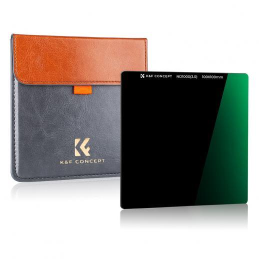 K&F SN251 100x100mm ND1000 10 fストップスクエアフィルターマルチコーティングDSLR用