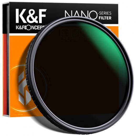 K&F 58MM クロスワイヤー超薄型調整可能 ND レンズ、ND32~ND512
