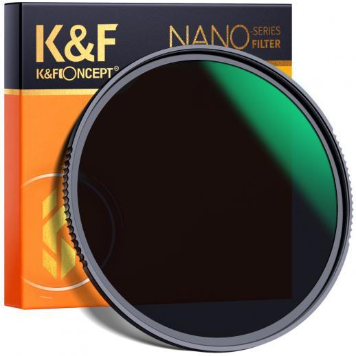 K&F XN55 62 Nano-X、ガラス ND64、超透明、防水、耐スクラッチ、反射防止グリーン フィルムでコーティング