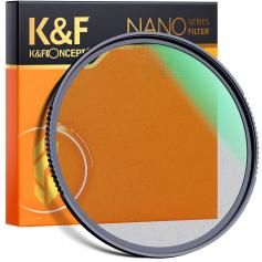 67mm, Nano-X, optical glass black soft filter 1 ultra-clear, coated with waterproof, scratch-resistant and anti-reflection green film