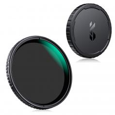 77mm Variable ND2-32 Filter with Cap, Adjustable  Neutral Density ND Filter Kit