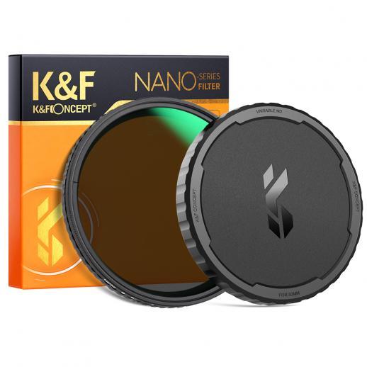 キャップ付き67mm可変ND2-32フィルター、調整可能な減光NDフィルターキット