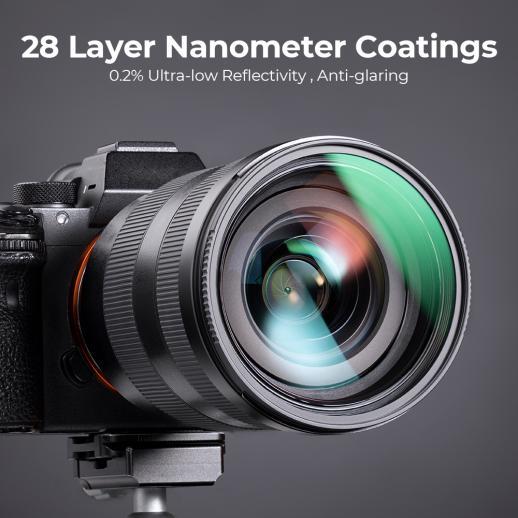 82mm UV Filter for Camera Lenses,18-Layer Multi Coated UV Protection Filter  Nanotech Coatings