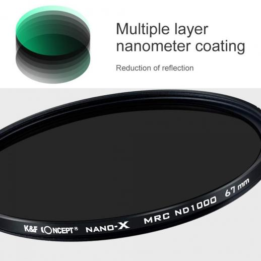 82mm ND1000 Filter 10 Stop Multi-Resistant Nano Coating
