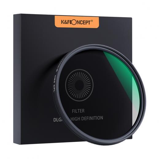 52mm circular polarizador filtro hd 18 camada super fino multi revestido filtro de lente cpl