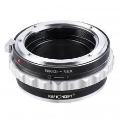 K&F M18101 Nikon G/F/AI/AIS/D Lenses to Sony E Lens Mount Adapter