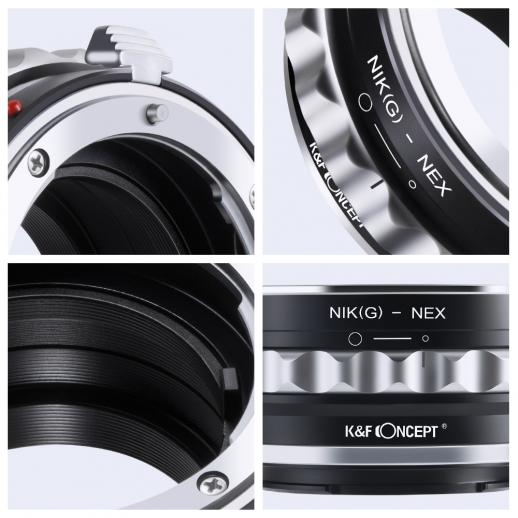 Nikon G/F/AI/AIS/D Lenses to Sony NEX E Mount Camera Adapter