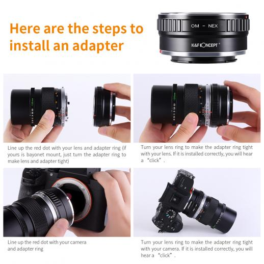 Olympus OM Lenses to Sony E Mount Camera Adapter