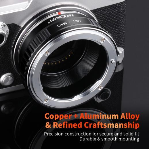 Nikon F Lenses to M43 MFT Mount Camera Adapter