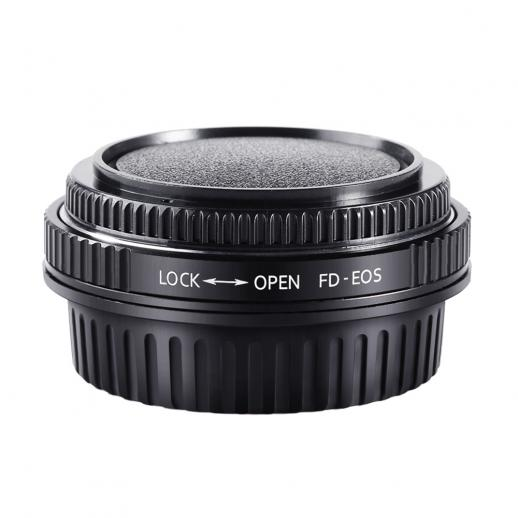 Canon FD Lenses to Canon EOS EF Mount Camera Adapter with Optic Glass