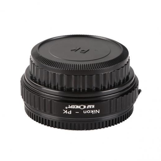 Nikon F Lenses to Pentax K Camera Mount Adapter with Optic Glass