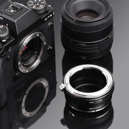 Nikon F Lenses to Fuji X Mount Camera Adapter