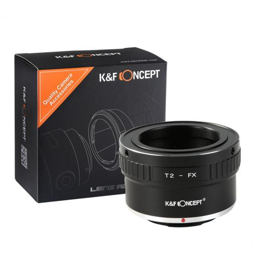 T2 Mount Lenses to Fuji X Mount Camera Adapter