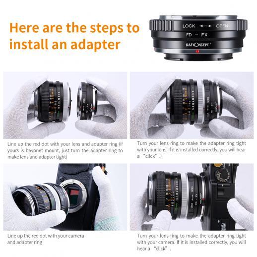 Canon FD Lenses to Fuji X Camera Mount Adapter