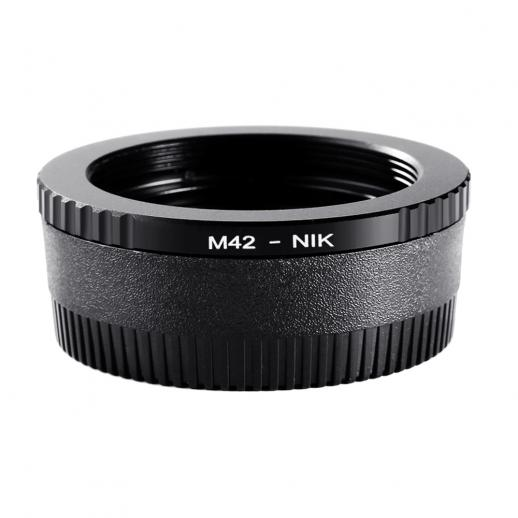 M42 Lenses to Nikon F Mount Camera Adapter with Optic Glass