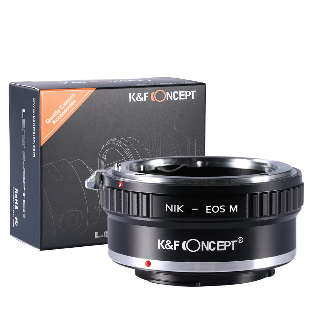 K&F M11141 Nikon F Lenses to Canon EOS M Lens Mount Adapter