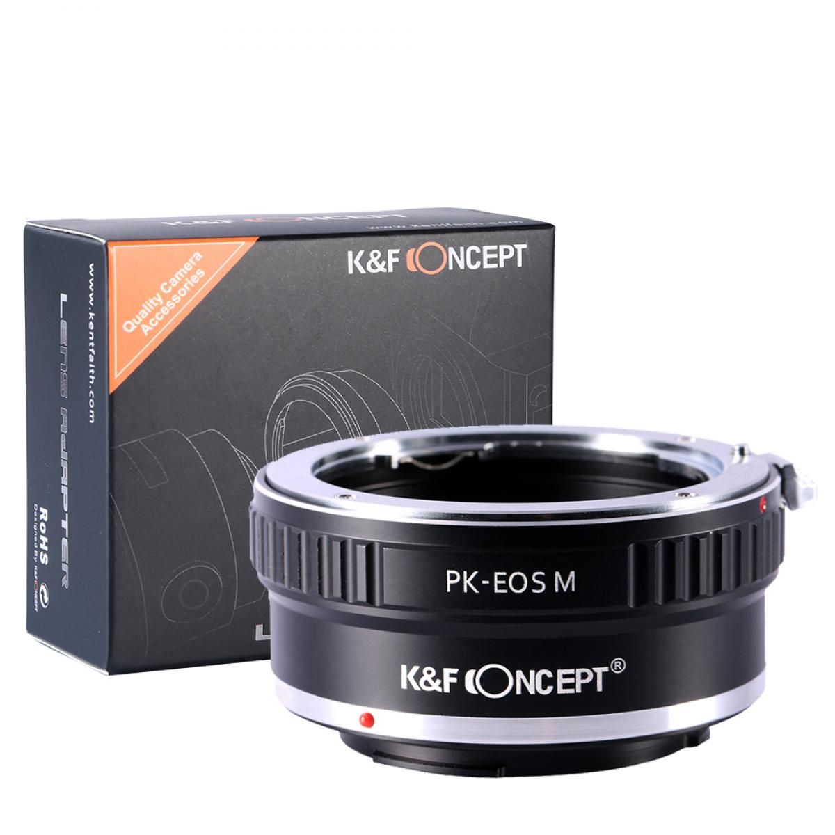 K&F M17141 Pentax K Lenses to Canon EOS M Lens Mount Adapter