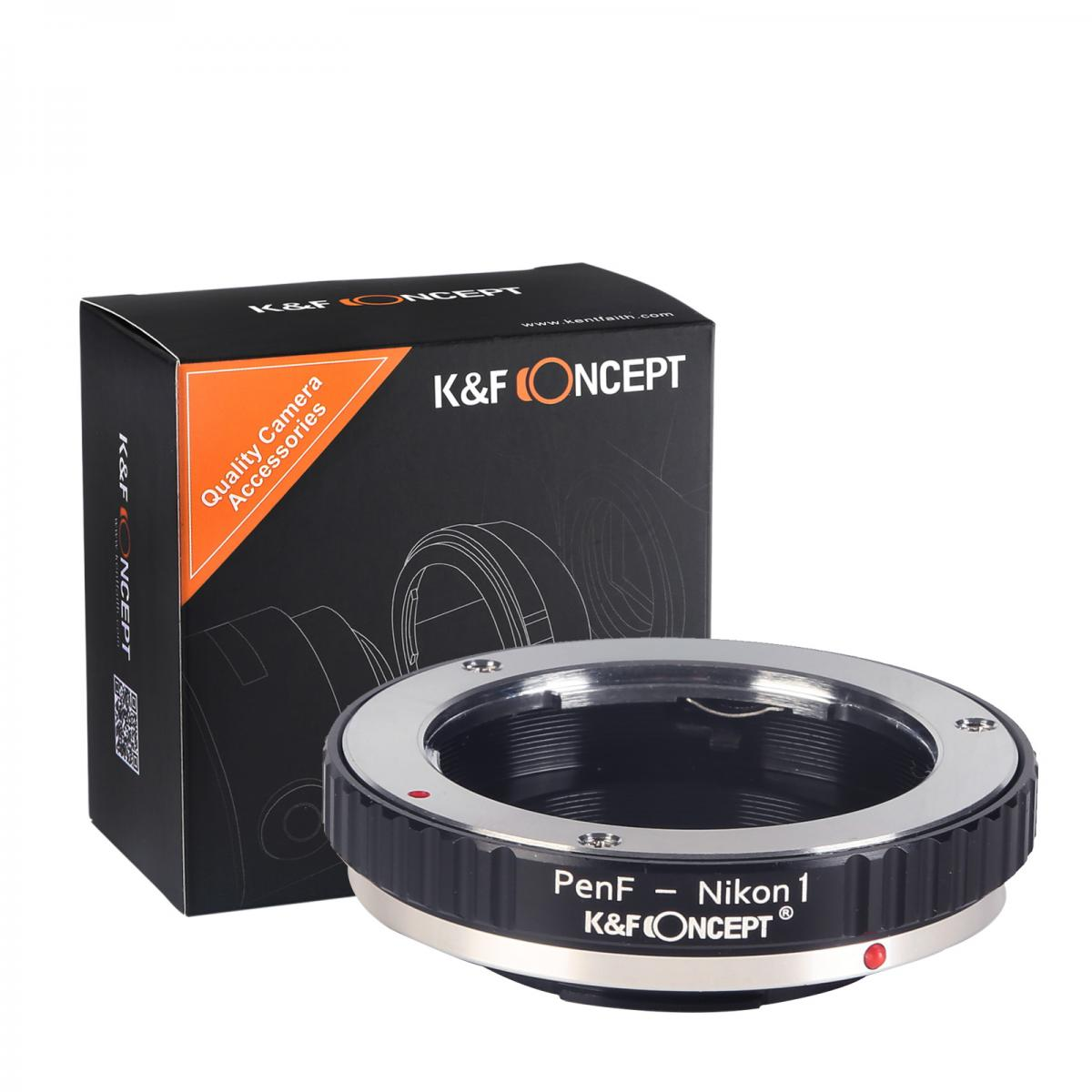 K&F M43201 Olympus Pen-F Lenses to Nikon 1 Lens Mount Adapter