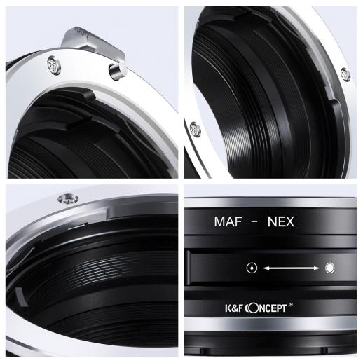 Minolta A / Sony A Lenses to Sony NEX E Camera Mount Adapter