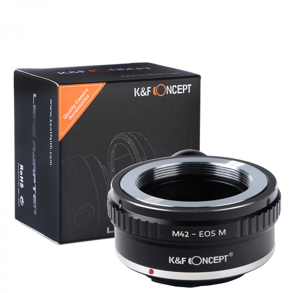 K&F M10142 M42 Lenses to Canon EOS M Lens Mount Adapter with Tripod Mount