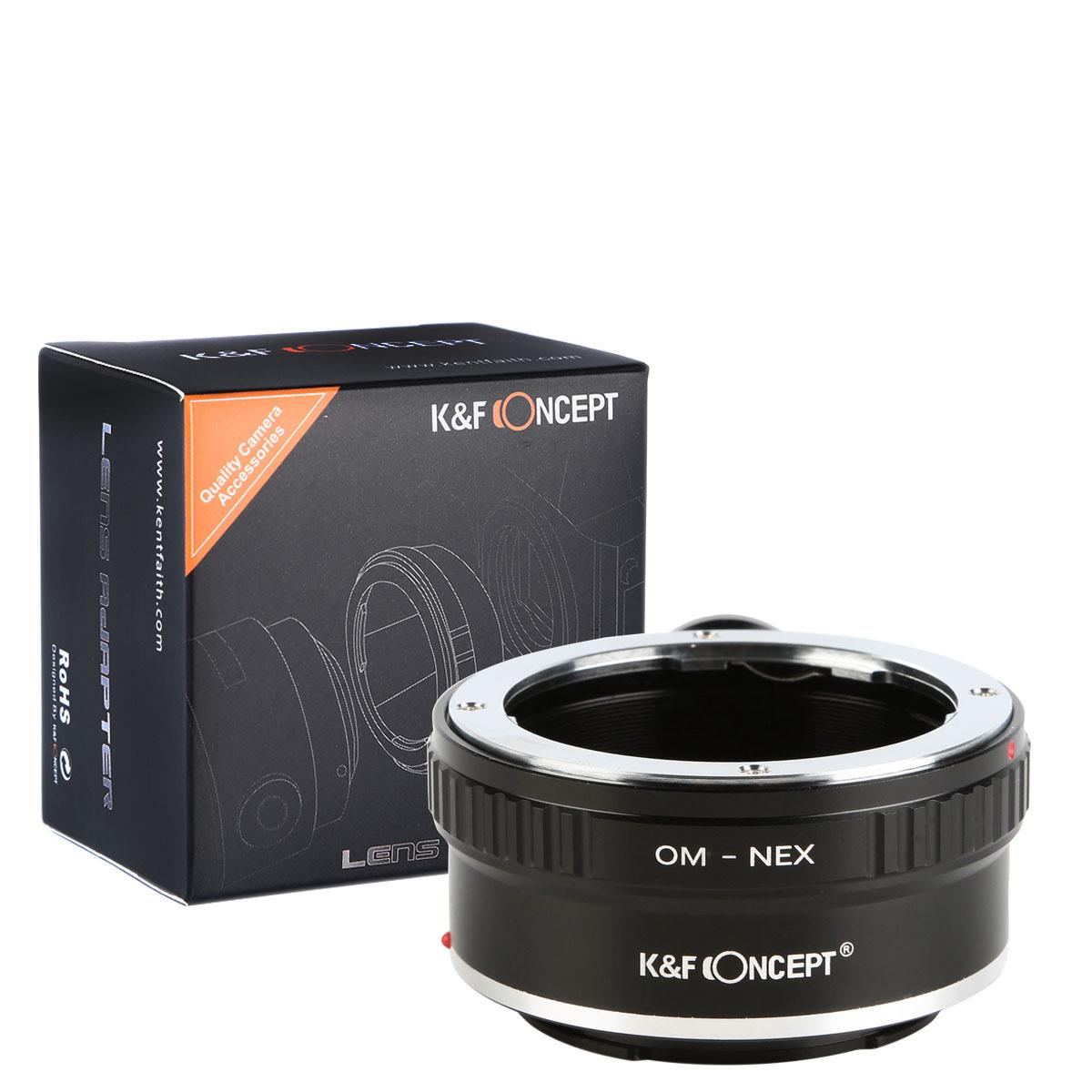 K&F M16102 Olympus OM Lenses to Sony E Lens Mount Adapter with Tripod Mount