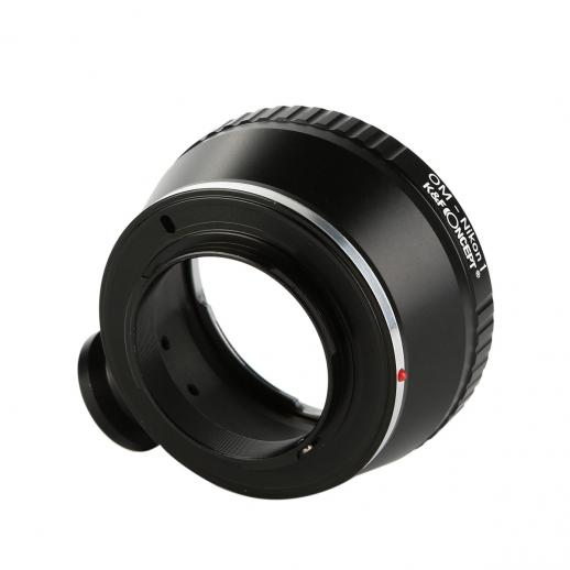 Olympus OM Lenses to Nikon 1 Camera Mount Adapter with Tripod Mount