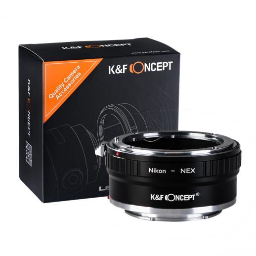 Nikon F Lenses to Sony E Mount Camera Copper Adapter