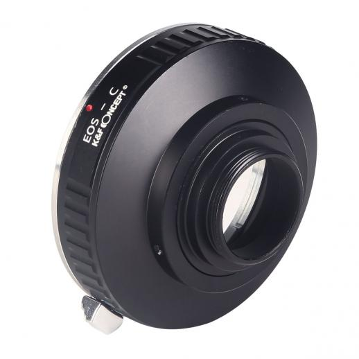Canon EOS EF Lenses to C Mount Camera Adapter