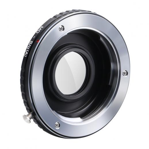 Minolta MD Lenses to Sony A Mount Camera Adapter with Optic Glass