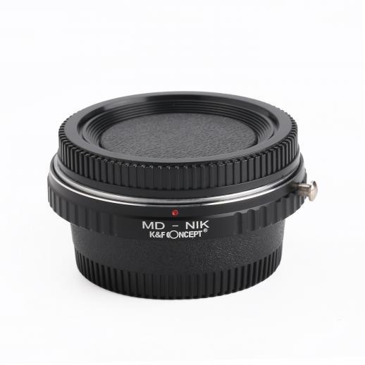ミノルタMD MCレンズ、Nikon Camera Optic Glass付きカメラマウントアダプター