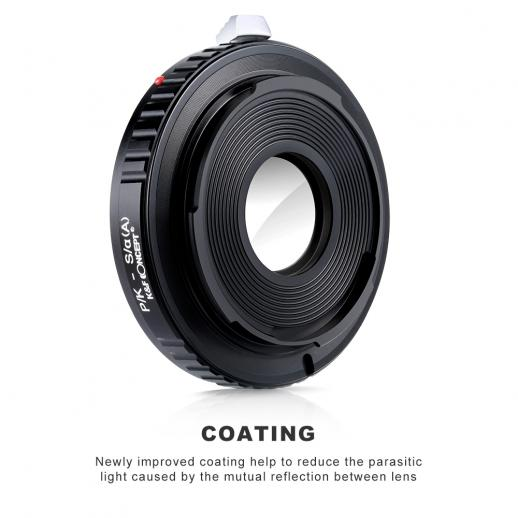 Pentax K Lenses to Sony A Mount Camera Adapter with Optic Glass
