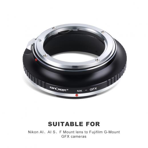 Nikon F Lenses to Fuji GFX Mount Camera Adapter