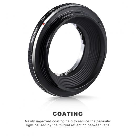 Contax/Yashica Lenses to Fuji GFX Mount Camera Adapter