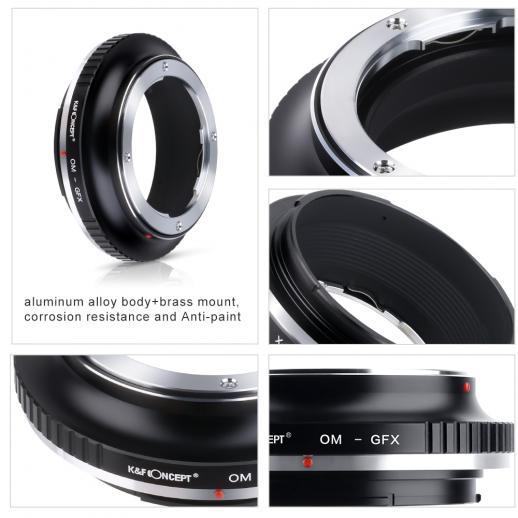 Olympus OM Lenses to Fuji GFX Mount Camera Adapter
