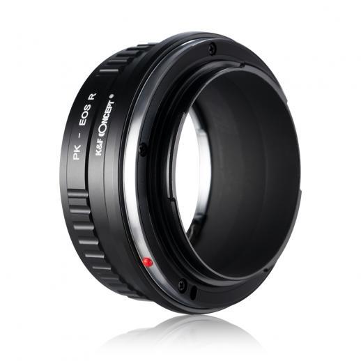 Canon EOS RマウントカメラアダプターへのPentax Kレンズ