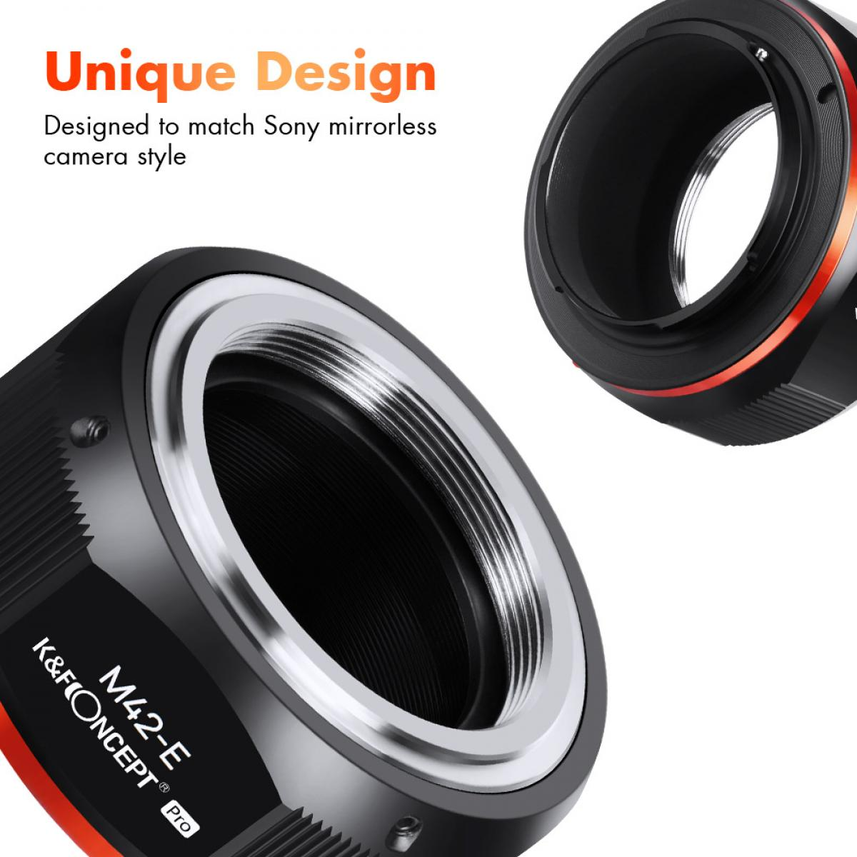 New Product : K&F M10115  M42-NEX PRO,New in 2020 high precision lens adapter (orange)