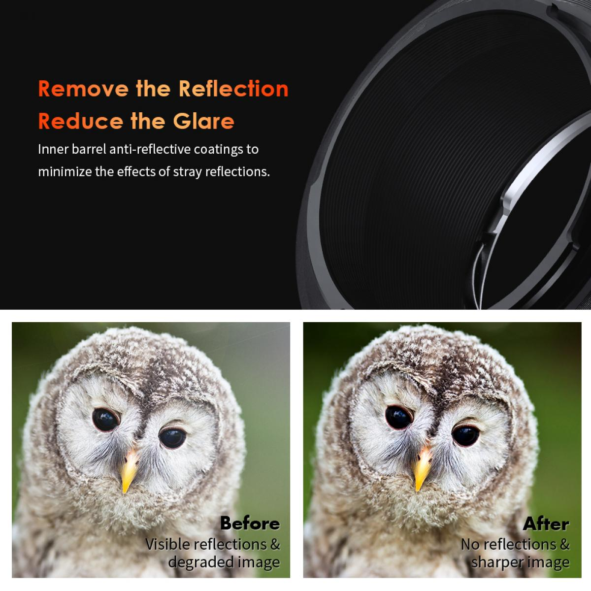 New Product : K&F M11105  NIK-NEX PRO,New in 2020 high precision lens adapter (orange)